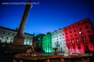 I palazzi istituzionali di Roma si vestono di tricolore