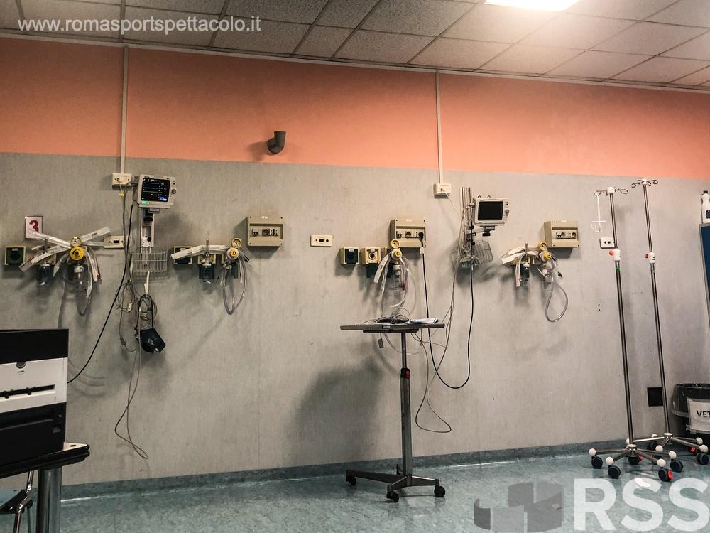 Sala rossa Pronto soccorso in attesa di utilizzo intensivo