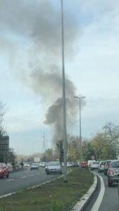 Ancora fiamme sull'Olimpica