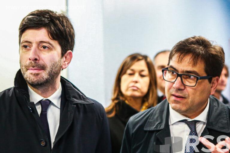 Roberto Speranza e Alessio D'Amato