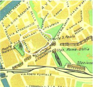 Dove stava il mitico campo sportivo in una piantina del 1939