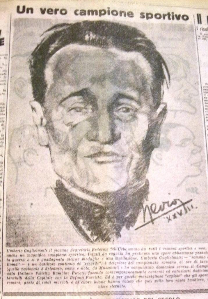 Umberto Guglielmotti, il Federale che decise la data di nascita da mettere nello statuto della ASR. Dal giornale Il Tifone