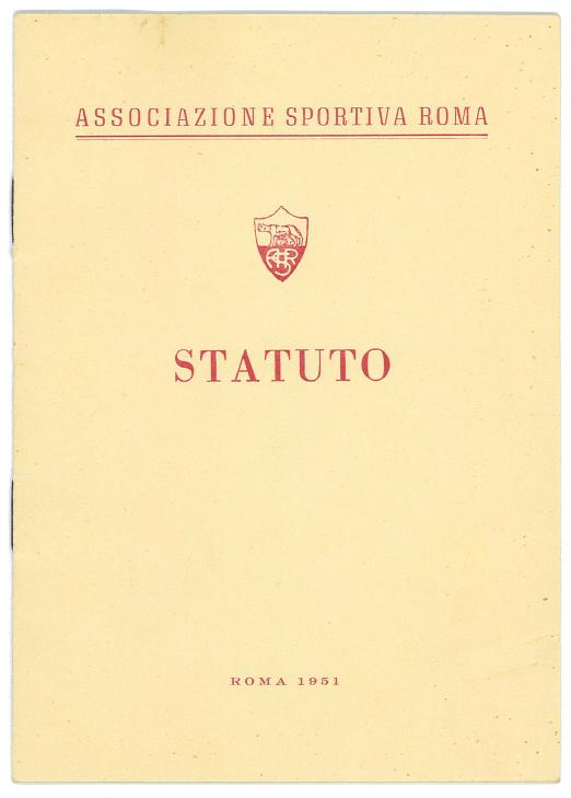 Frontespizio dello statuto del 1951.
