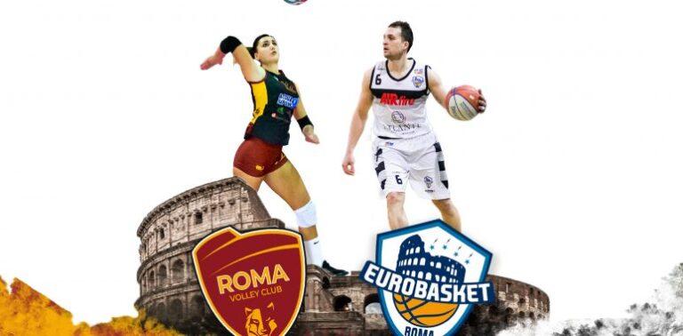 Gemellaggio Atlante Eurobasket e Roma Volley Club Femminile