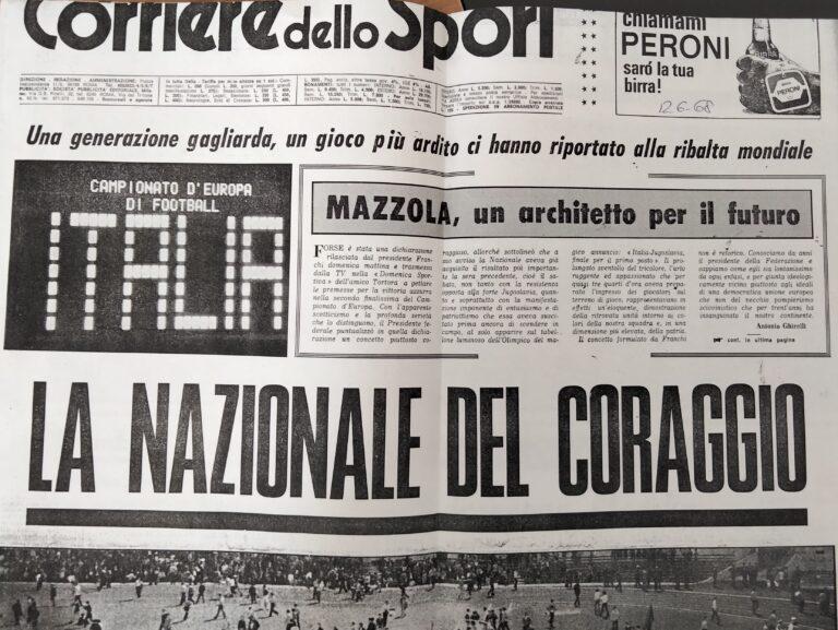 Corriere dello sport - La nazionale del coraggio 1968