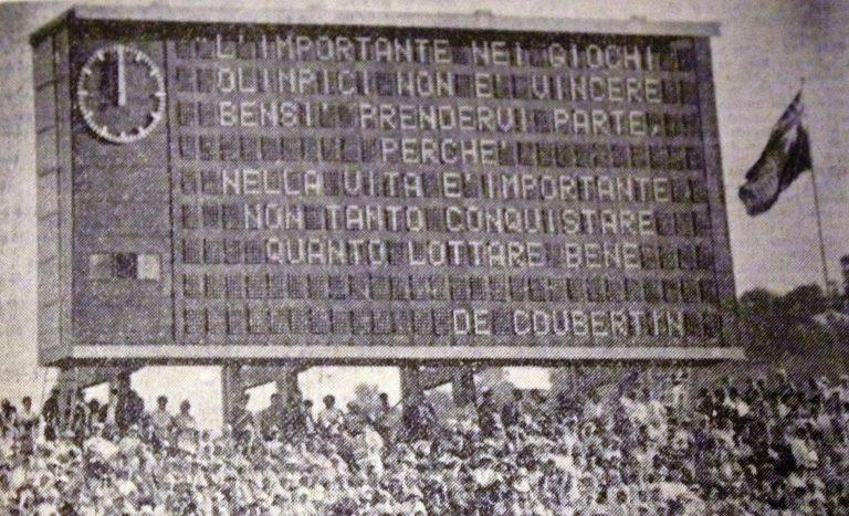Olipiado 60 a roma - tabellone inaugurazione