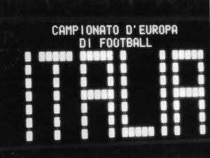 Il tabellone dell'Olimpico al termine del match del 10 giugno