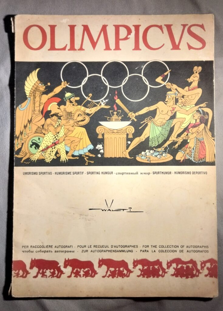 La caccia agli autografi fu lo sport più praticato dai romani. Uscì anche un libro per collezionarli, corredato dai disegni umoristici di Walter Faccini.
