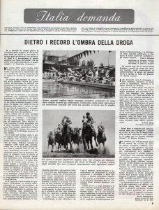 Un servizio del giornale Epoca sul problema delle droghe nello sport professionale, confezionato pochi giorni prima del tragico evento olimpico