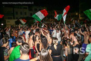 Festeggiamenti Italia-Spagna ad Anzio