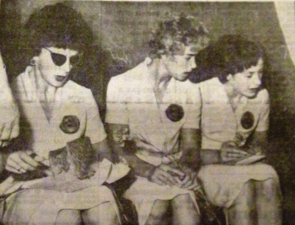 Atlete sovietiche all'arrivo a Roma