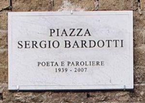 Intitolata una piazza a Sergio Bardotti, autore, paroliere e poeta contemporaneo